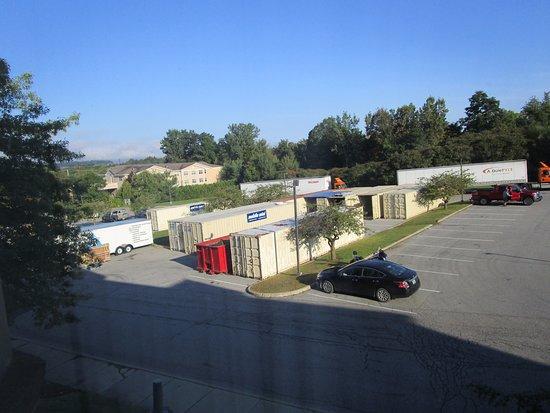 Genial Comfort Suites South Burlington: Storage Trailers In Parking Lot