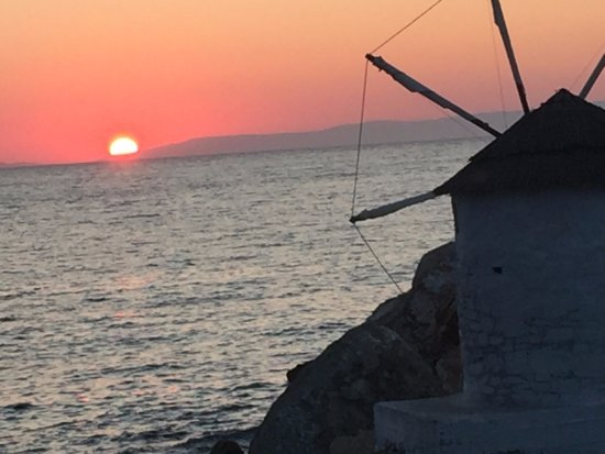 Aegiali, Greece: sunset from the Embassa