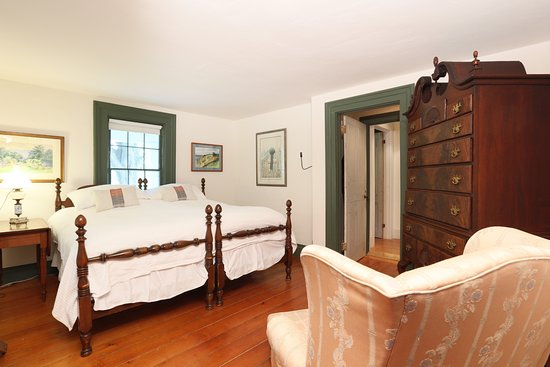 Addison, VT: East Room in Main house, with private bathroom with tiled shower