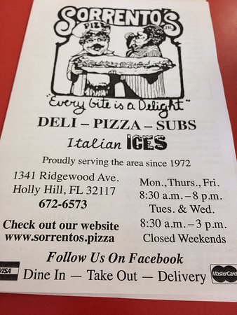 Holly Hill, FL: Sorrentos Jr.