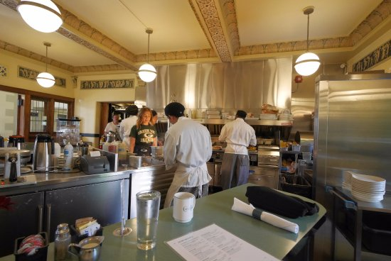 The Plaza Hotel: Cafe at the Plaza, hard at work.