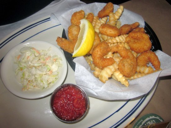 Burlington, NJ: Fried Shrimp & French Fries with Slaw