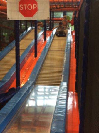 Zoetermeer, The Netherlands: Fun on rollers. Walk up, roll down.