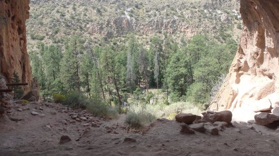 Los Alamos, NM: View from the last ladder, out of the cavern!