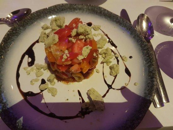 Astoria, NY: heirloom cherry tomatos, strawberries and basil icecream