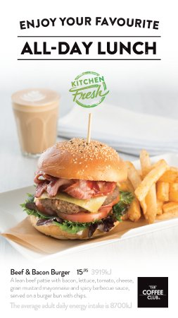 Coolum Beach, Australia: New And Popular Beef & Bacon Burger with Chips $15.95