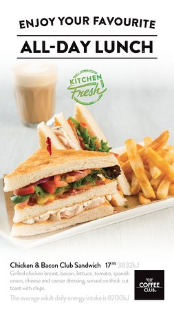 Coolum Beach, Αυστραλία: All time favourite Chicken & Bacon Club Sandwich $17.95.