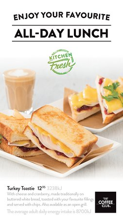 Coolum Beach, Αυστραλία: New Turkey & Cranberry Toastie with Chips only $12.95