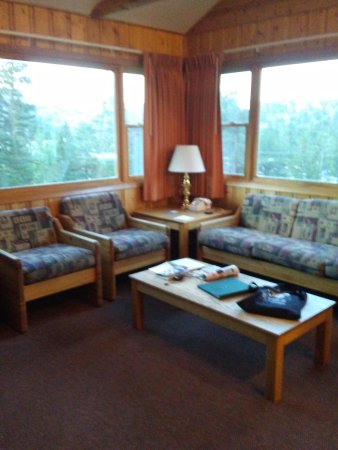 YMCA of the Rockies: View out living room windows.
