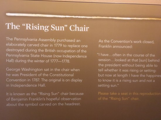 Museum Of The American Revolution: 2017. Museum Of The American Revolution:  George Washingtonu0027s Rising Sun Chair
