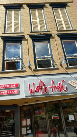 Waffle Frolic: The front of the building form the commons.