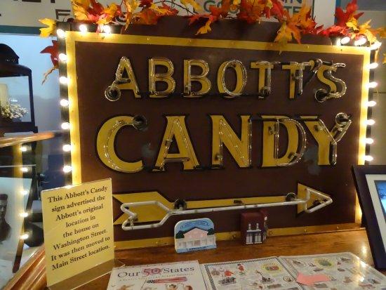 Hagerstown, IN: Old Abbott's sign