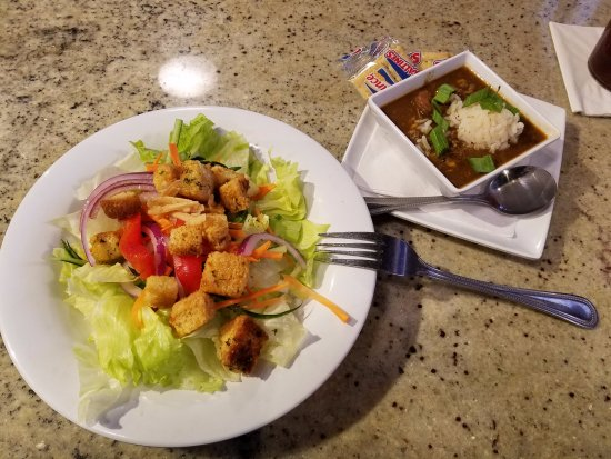 Valdosta, GA: Small Salad and Cup of Seafood Gumbo