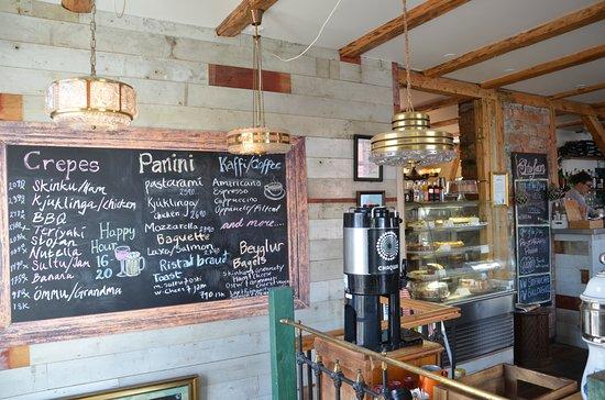 Stofan Cafe: Interior Menu Board at Stofan