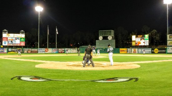 Lake Elsinore Storm, The Diamond: LOVE the logo on the field!