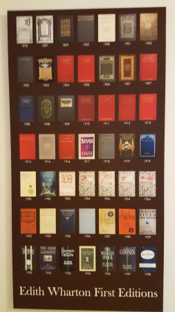 Lenox, MA: A poster showing all her first edition novels.