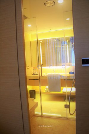 Crowne Plaza Hong Kong Causeway Bay: I love the concept of a see through Bathroom!