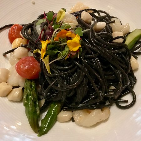 Burlingame, CA: squid ink pasta