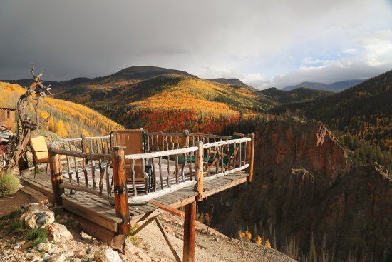 Bucket List Item: coffee on the deck at Last Chance Mine in Creede, CO