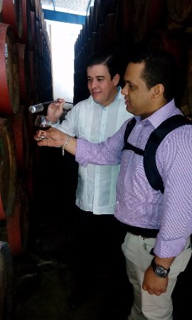 Brugal Rum Center: Tasting the raw product straight from the barrel