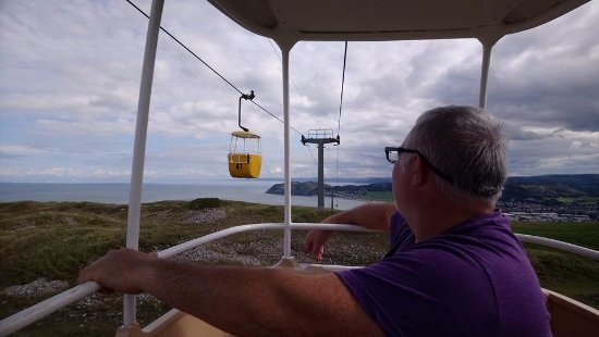 Great Orme Cable Cars : The view over the bay.
