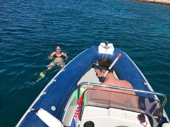 Preko, كرواتيا: snorkelling tour with skipper