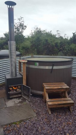 gorsebank camping village lovey woodburning hottub