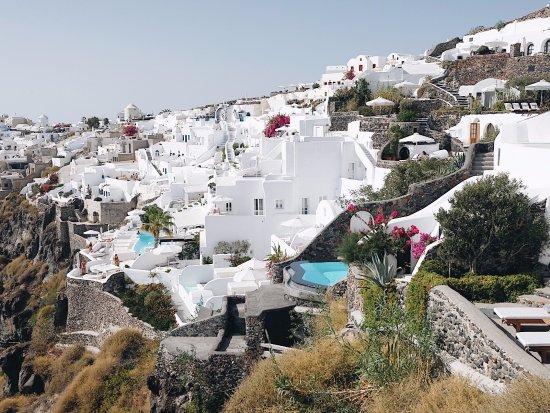 Ikies - Traditional Houses: view towards Oia