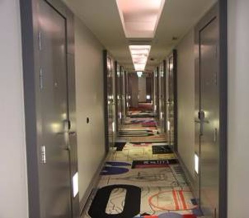 Hotel Rival: Corridors with rooms like bank vault doors - but they do look good :)