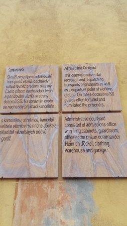 Terezín Memorial: Bilgilendirici tabelalar