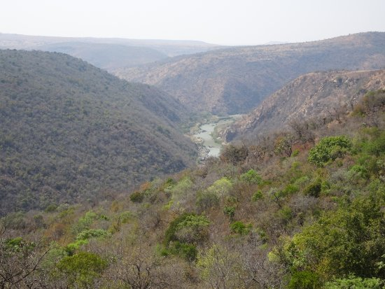 Rorke's Drift, South Africa: The view of the Buffalo River from the Harford Library