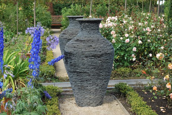 The Alnwick Garden: An Interesting Slate Feature In The Ornamental Garden