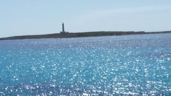 Hotel Xaloc Playa: view to lighthouse