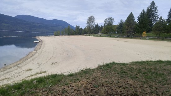 Beach area at Nakusp, BC