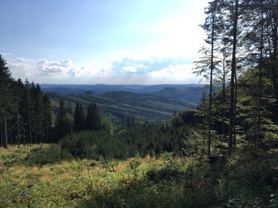 Vsetin, República Checa: Krásné výhledy cestou na Cáb
