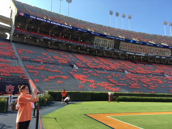 Jordan Hare Stadium Another View From Field On Locker Room Tour
