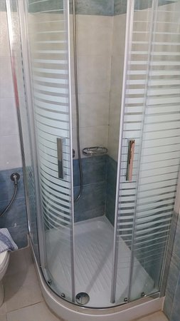 Alkyon Apartments & Villas Hotel: Room Kirke B1 Shower