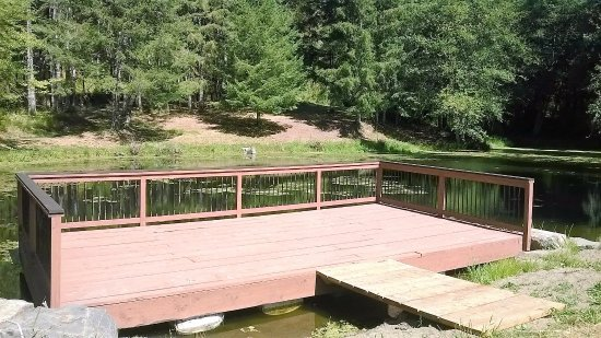 Vernonia, OR: Dock on Trout Pond
