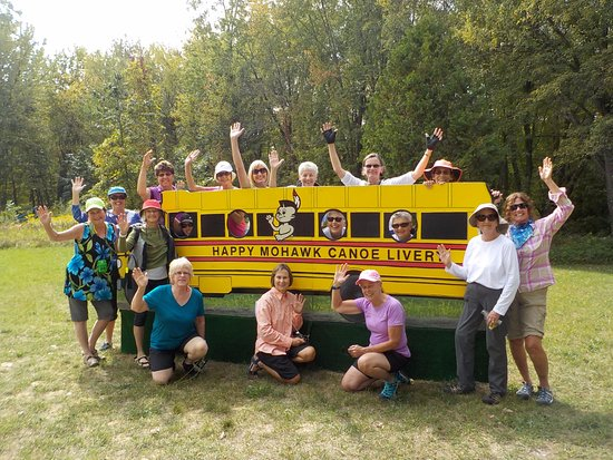 Montague, MI: LOVE2KAYAK group, anxious to get on the river!