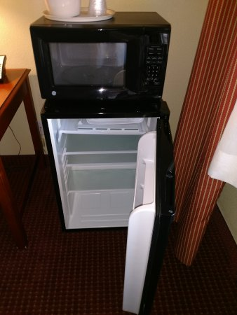 Lexington Inn - Holbrook, AZ: The room had a small refrigerator but a bit larger than most hotels. Also a microwave.