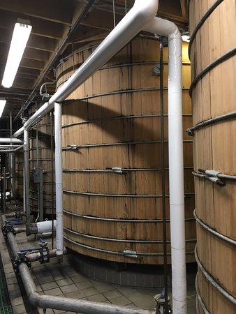 Versailles, KY: Huge mash barrels.