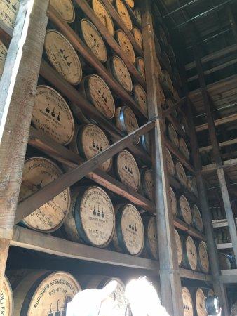 Versailles, KY: Stacks of barrels.