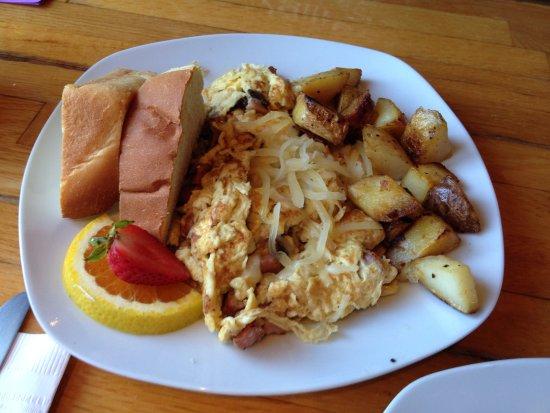 Coupeville, WA: Ham and cheese scramble