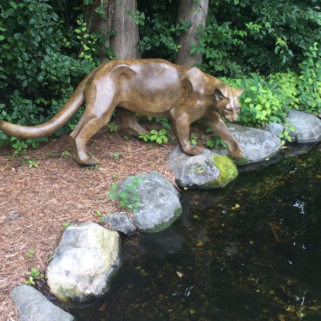 Wausau, WI: sculptures can be seen walking through the gardens