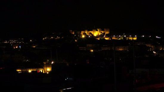 Vue Sur Le Castelo De São Jorge Depuis La Terrasse De L