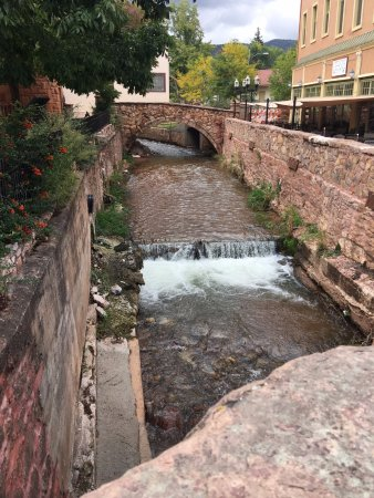 Downtown Manitou Springs: Is this a creek or a river? Just the view as I strolled through town.