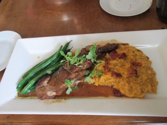 Brooklin, Canada: Butternut Squash Risotto with Pork Tenderloin & Green Beans