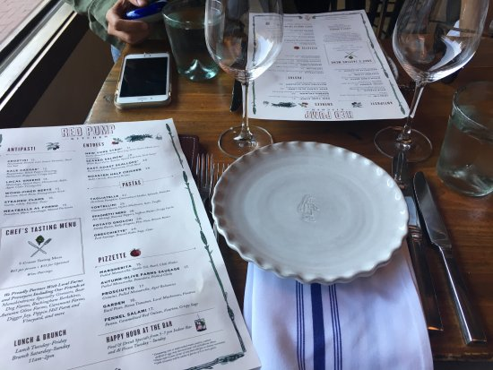 Menu And Place Setting Picture Of Red Pump