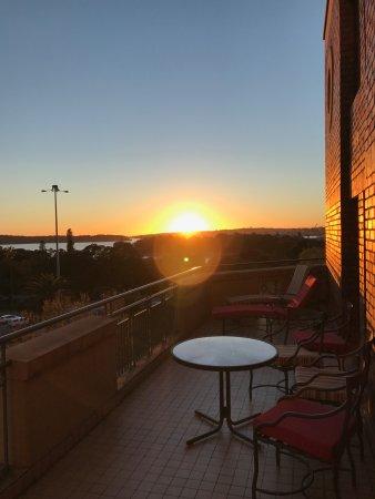 Sir Stamford at Circular Quay Hotel Sydney: Terrace off the room. Great sunrises.