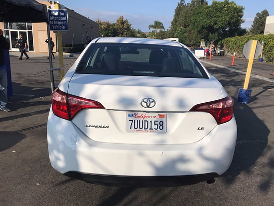 Anaheim, CA: This is the upgraded car (Toyota Corolla SE 2017) that was rented to us after being told that th